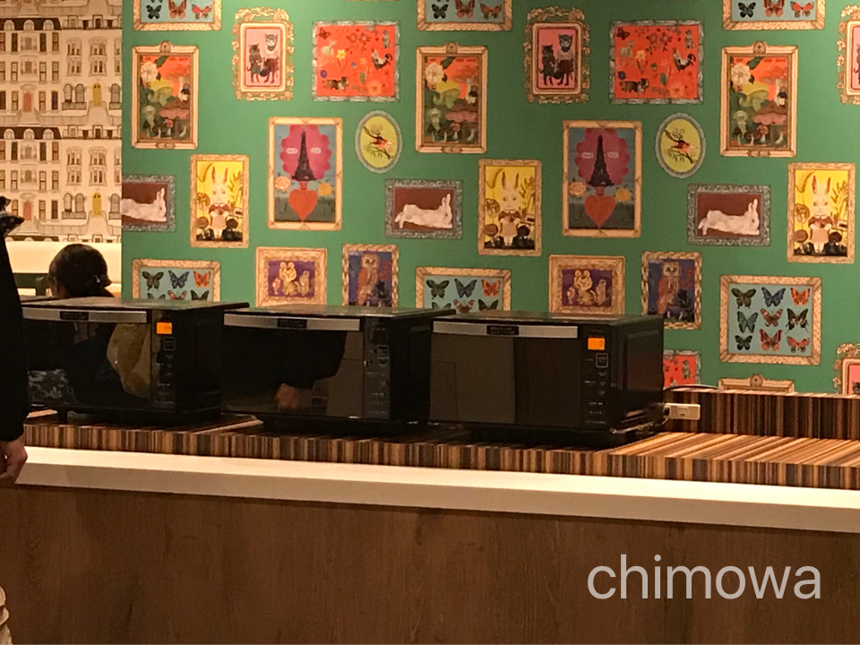 ラ・ジェント・ホテル東京ベイ ラウンジの電子レンジの写真