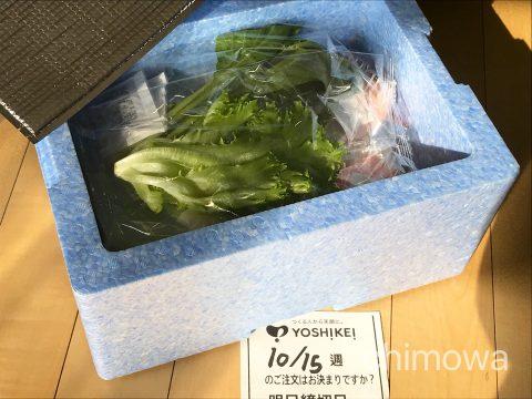 カットミール2018年10月9日分・実際の食材(箱入り)の写真