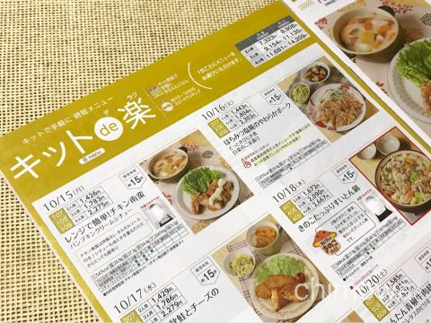 ヨシケイカタログ「キットデラク」のページの写真