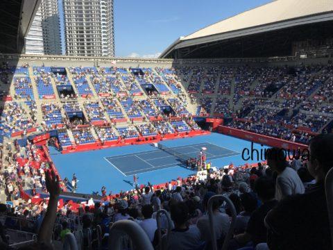 楽天ジャパン・オープン・テニス2019有明コロシアム試合会場内写真